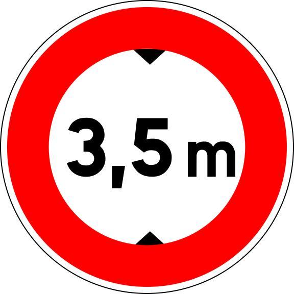 Panneau B12 Limitation De Hauteur - Balisage De Chantier Et Panneaux Routiers