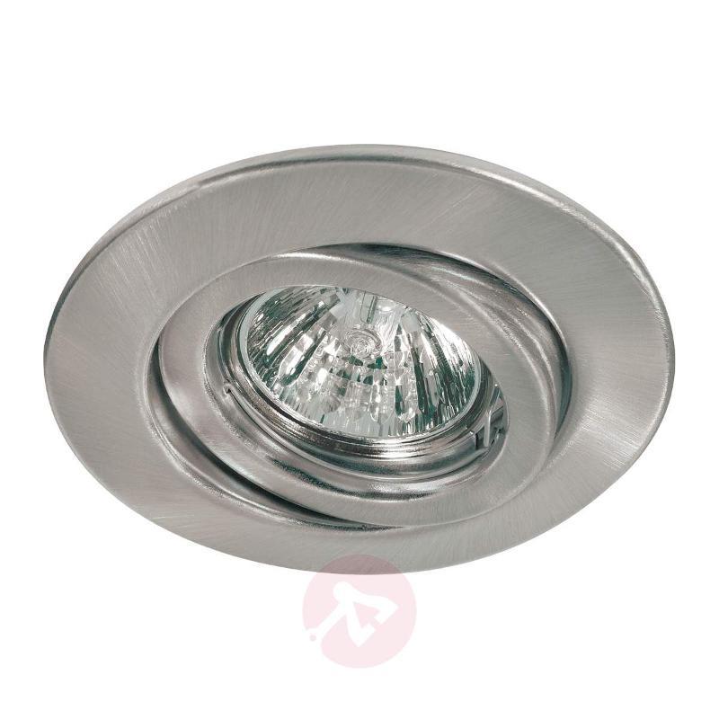 Premium VARIAS HV installed lamp brushed iron - High-Voltage Spotlights