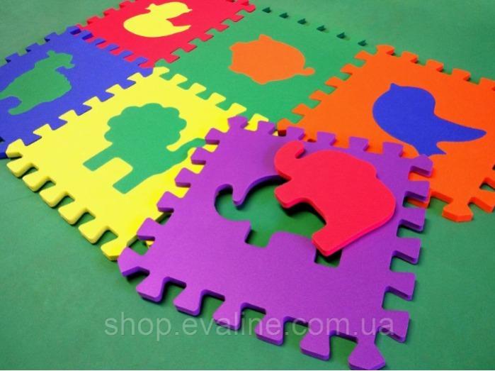 """Soft game floor """"Zoo"""" - (30*30*1 cm)"""