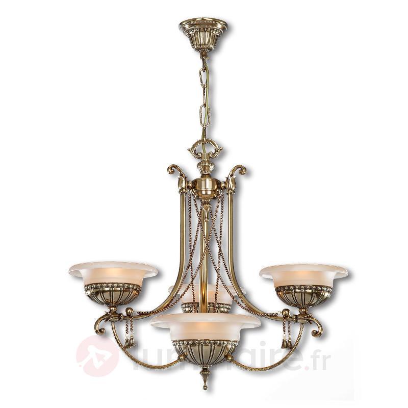 Lustre vieilli Evita à 4 lampes - Lustres classiques,antiques