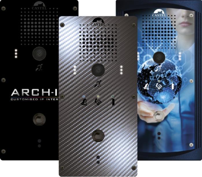 ARCH-IP - La première gamme d'interphonie IP 100% personnalisable