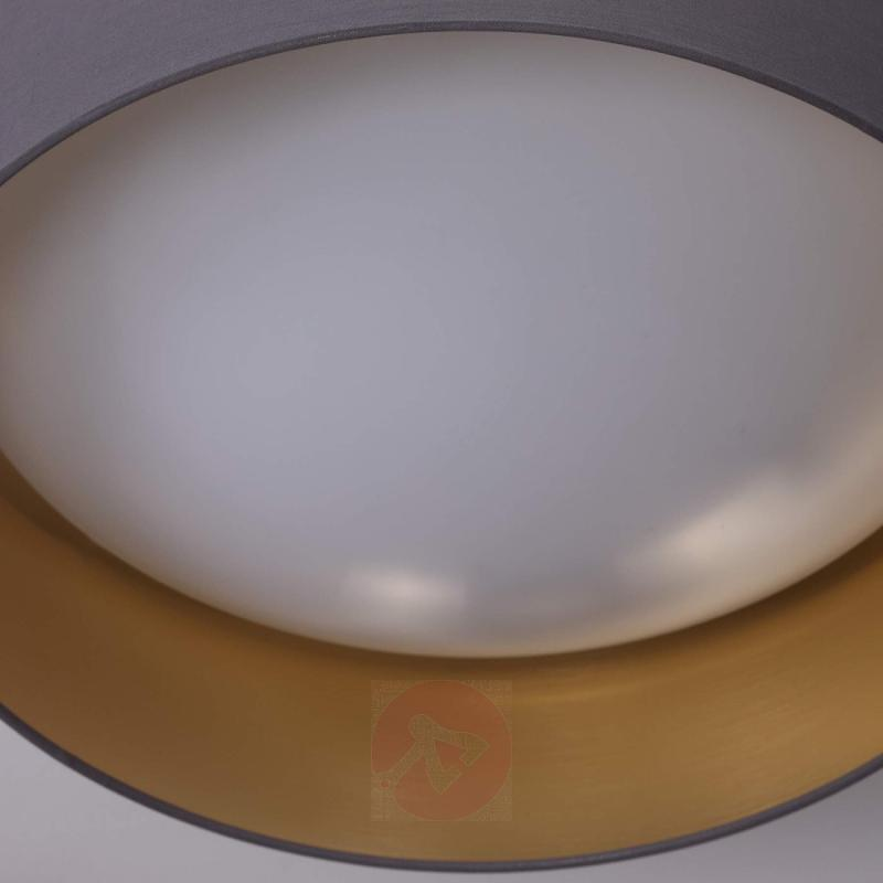 Fabric ceiling light Coleen in grey, gold inside - indoor-lighting