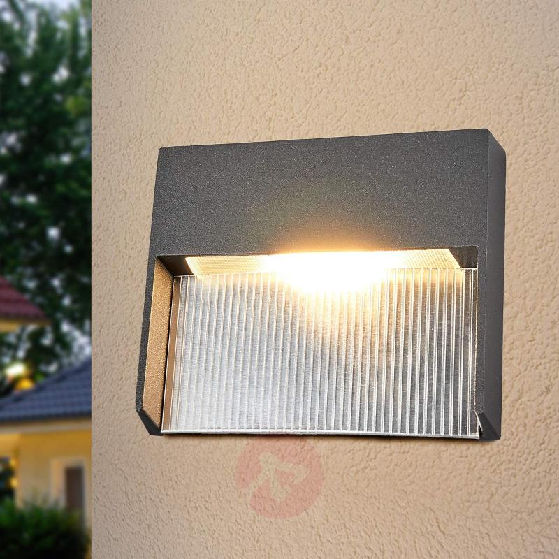 LED wall light Nandita with indirect light - Outdoor Wall Lights