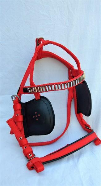Nylon Harness set  - Nylon with faux Leather horse harness set