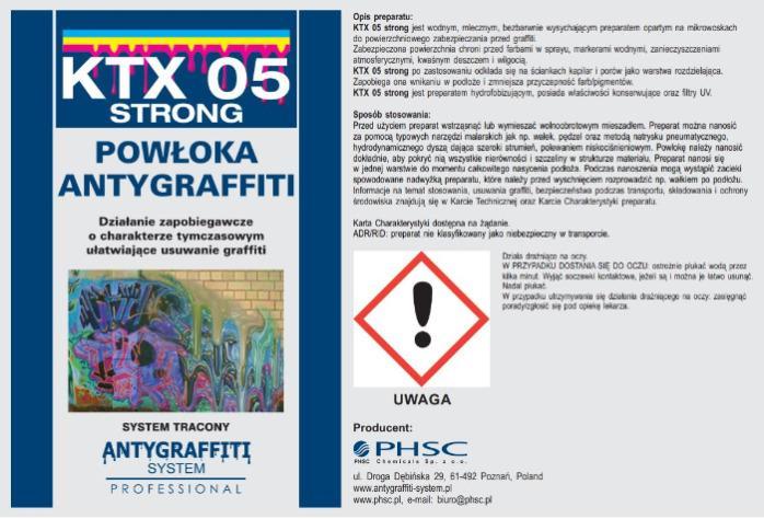 KTX 05 strong Powłoka Antygraffiti -
