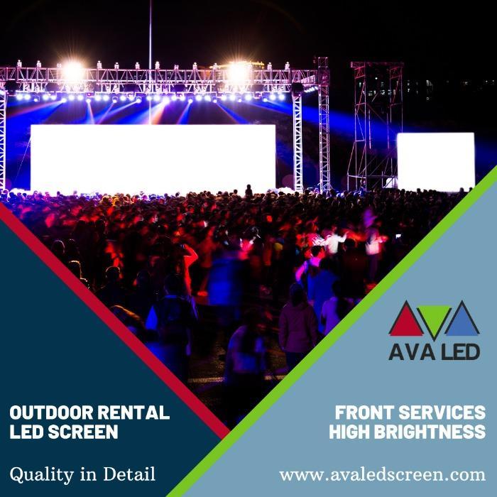 Sistemas de tela LED para área de concertos abertos - Sistemas de exibição de LED AVA para ambientes internos e externos