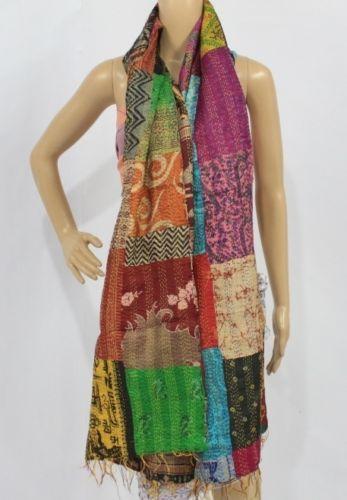 Vintage Silk Kantha Scarf -