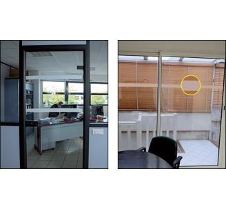 Adhésif de repérage de surface vitrée