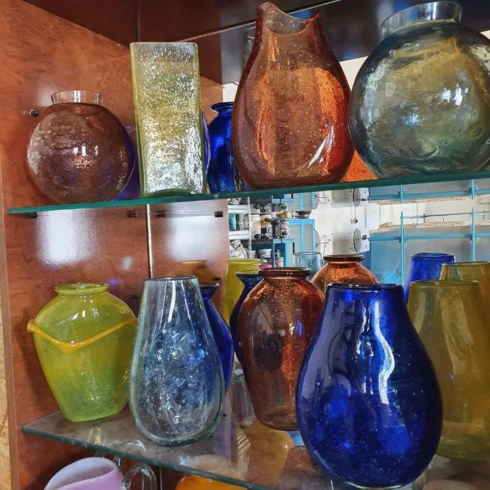 vaza sticla transparent - vaze sticla craclate