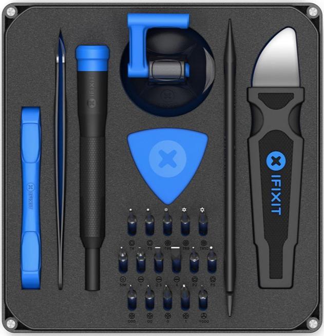 iFixit Essential Electronics Toolkit V2 - Werkzeug-Set für S - Werkzeug-Set für Smartphone- und Elektronik-Reparatur