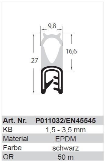 Klemprofiler, Kantlister, Rudeprofiler - Klemprofiler, Kantlister, Rudeprofiler EN45545