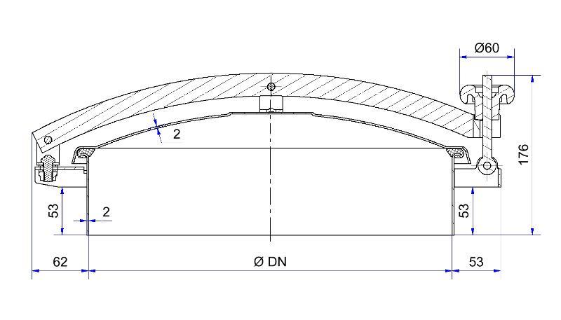 Trappe de visite ronde sans rétention - Trappe de visite ronde anti rétention - H01-2