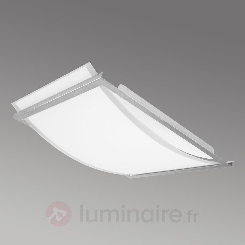 Plafonnier LED rectangulaire Arc - Plafonniers en verre