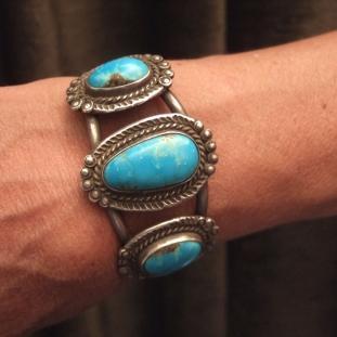 Bracelets - Argent, turquoises, Etats Unis