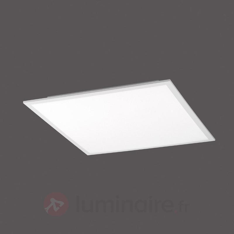Plafonnier LED carré Q-Flag 45 cm - Lampes connectées