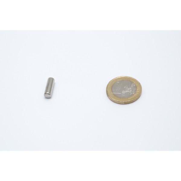 Neodymium disc magnet 5x15mm, N45, Ni-Cu-Ni, Nickel coated - Disc