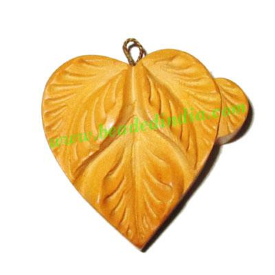 Handmade wooden fancy pendants, size : 30x32x9mm - Handmade wooden fancy pendants, size : 30x32x9mm