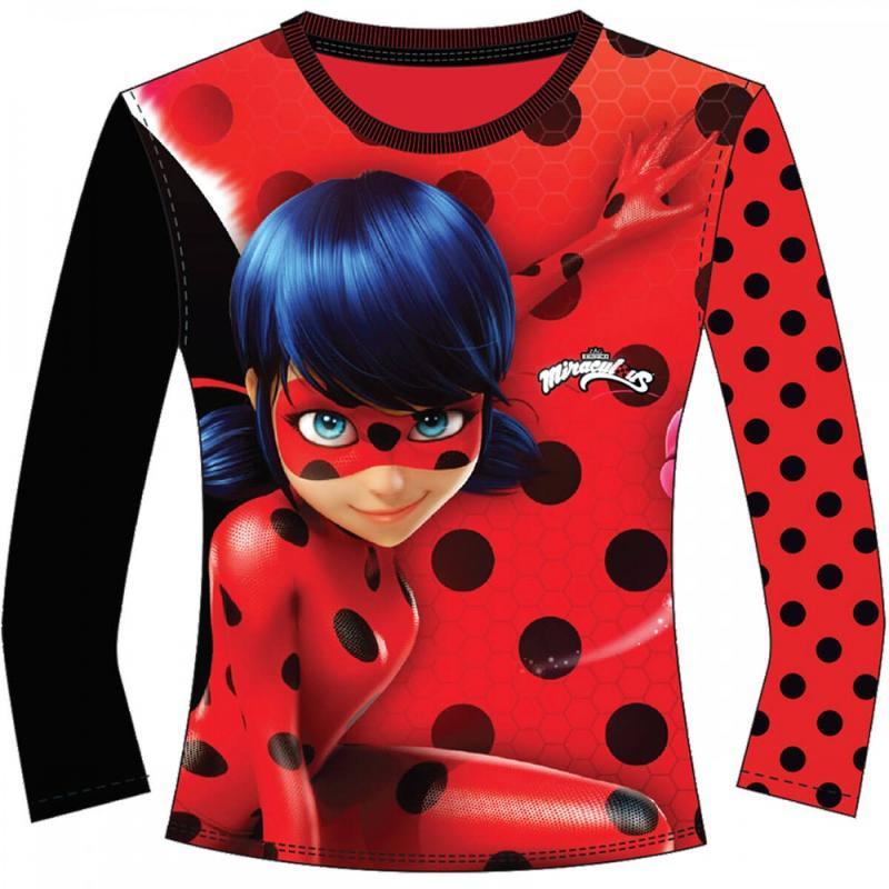 10x T-shirts manches longues LadyBug du 3 au 8 ans - T-shirt et polo manches longues