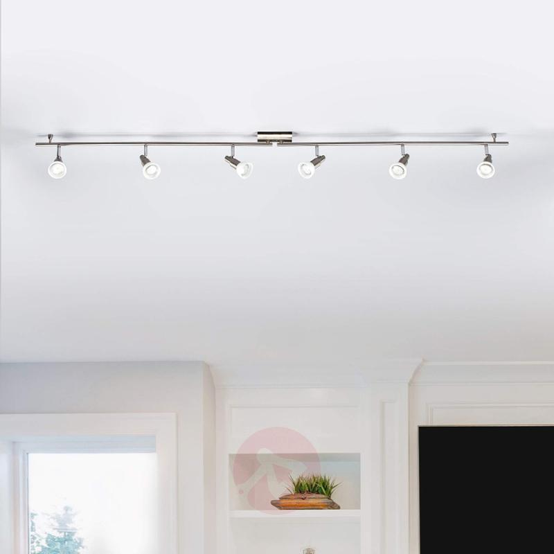 6-bulb LED spotlight Fiona with GU10 LED lamps - indoor-lighting