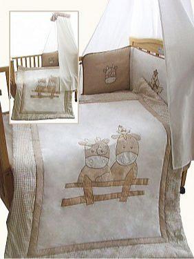 3 pcs Cot/ Cot-Bed Set - Cow - Bedding Sets