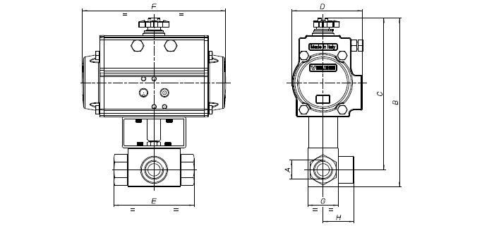 8P015300 (L) - 8P015400 (T) - 8P015500 (L) - 8P015600 (T) - VALVOLE AUTOMATIZZATE