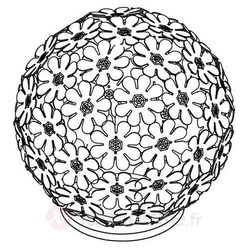Lampe à poser Hanifa avec des fleurs - Lampes de chevet
