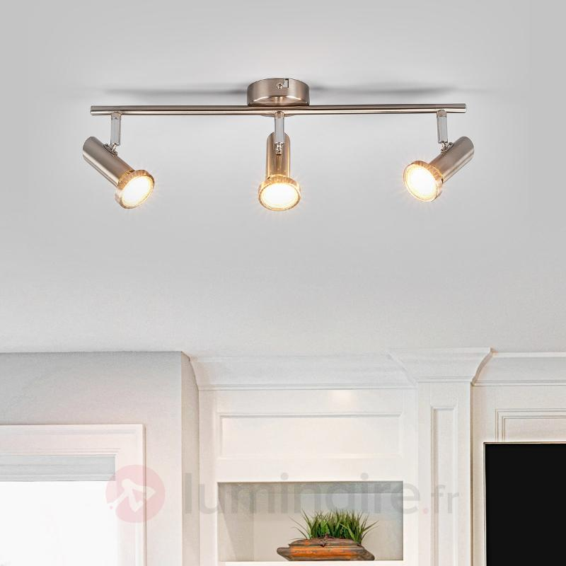 Plafonnier LED Cosma mat, trois ampoules - Spots et projecteurs LED