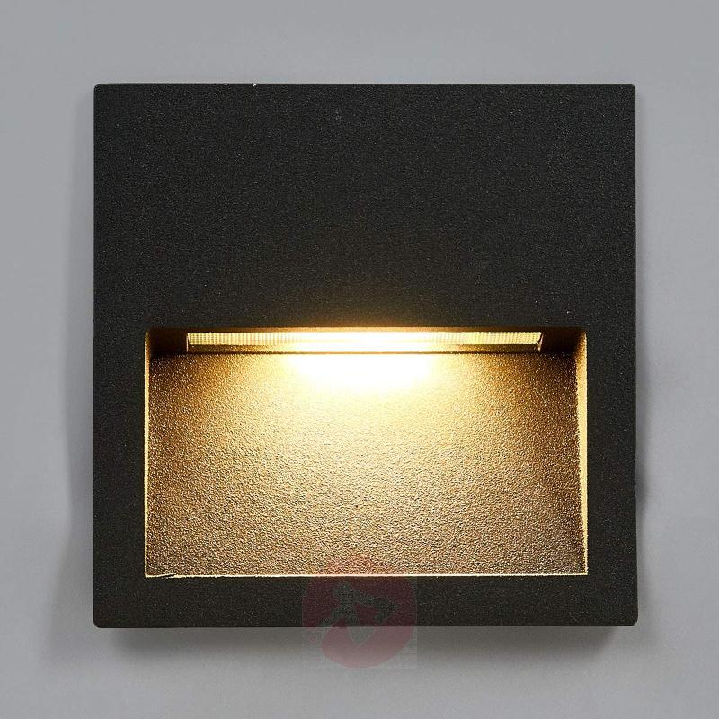 Square LED recessed wall light Loya for outdoors - Brick Lights