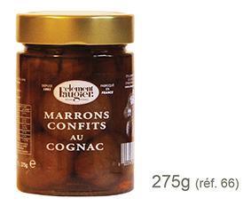 Marrons Confits Entiers au Cognac - en pot en verre