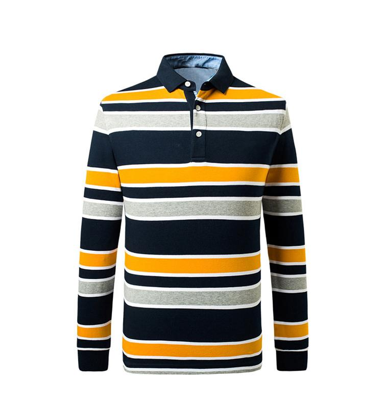 Men's long sleeve POLO shirt - polo shirt,embroidered or printed as required