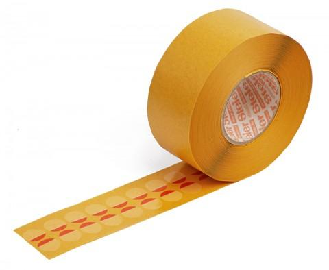 closure labels with adhesive-free zone 15 mm - made from Steierform 87-10104