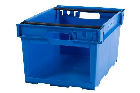 Caixas de plástico empilháveis e encaixáveis  - Picking, empilháveis sobre arcos posicionáveis, 53L