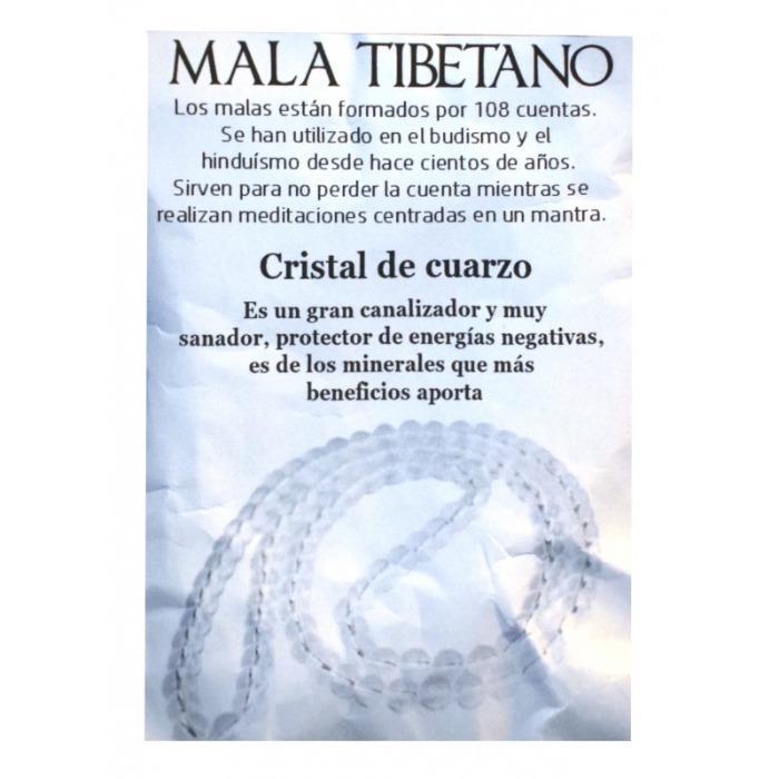 COLLAR 8MM MALAS CRISTAL DE CUARZO MINERAL -