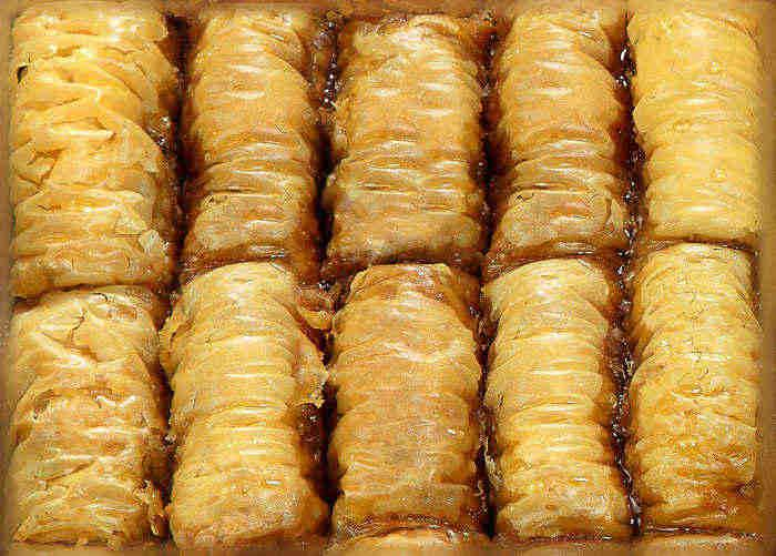 Cigar shaped Oriental pastries