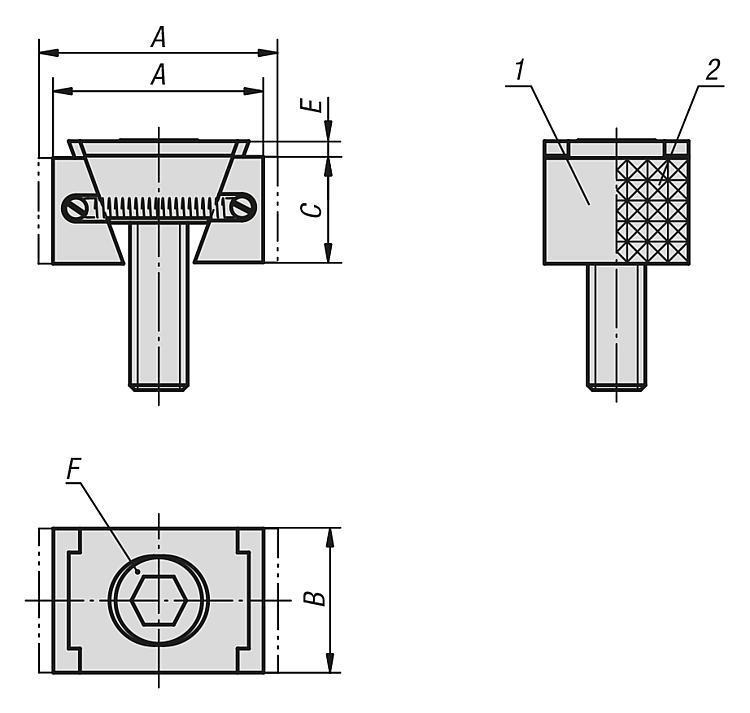 Mors de serrage, surfaces de bridage lisses ou striées - Système de bridage multiple