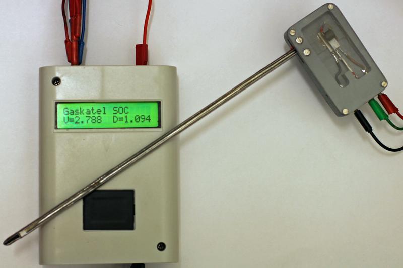 Acid density sensor