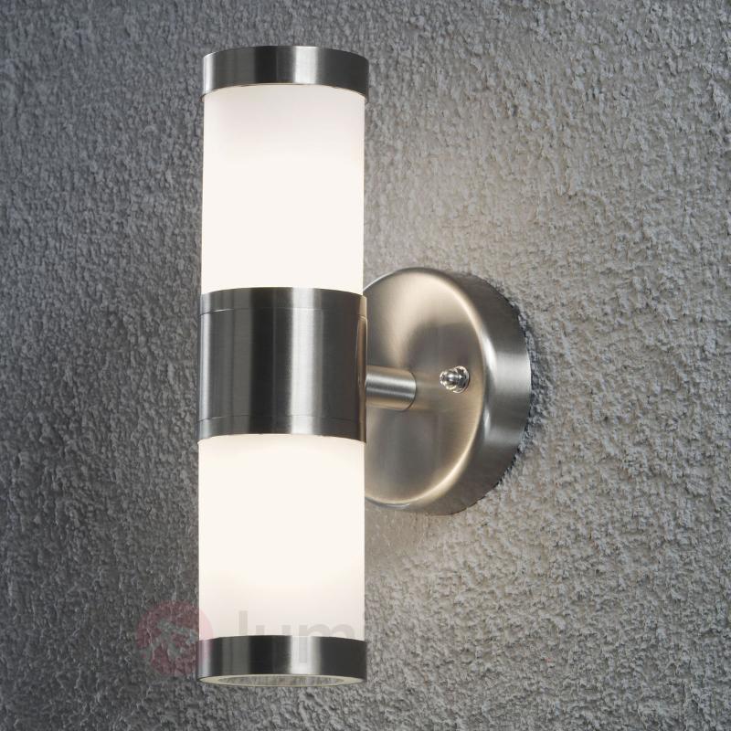 Applique d'extérieur sobre Modena à 2 lampes - Appliques d'extérieur inox