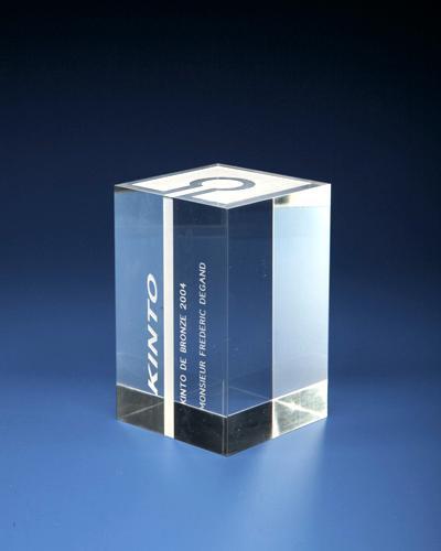 Trophées & tombstones en Plexiglas  - Trophée type: Award bloc 3