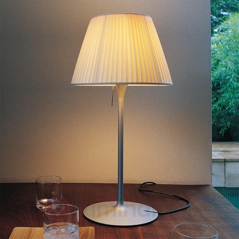 Lampe à poser ROMEO SOFT T1 abat-jour plissé - Lampes à poser designs