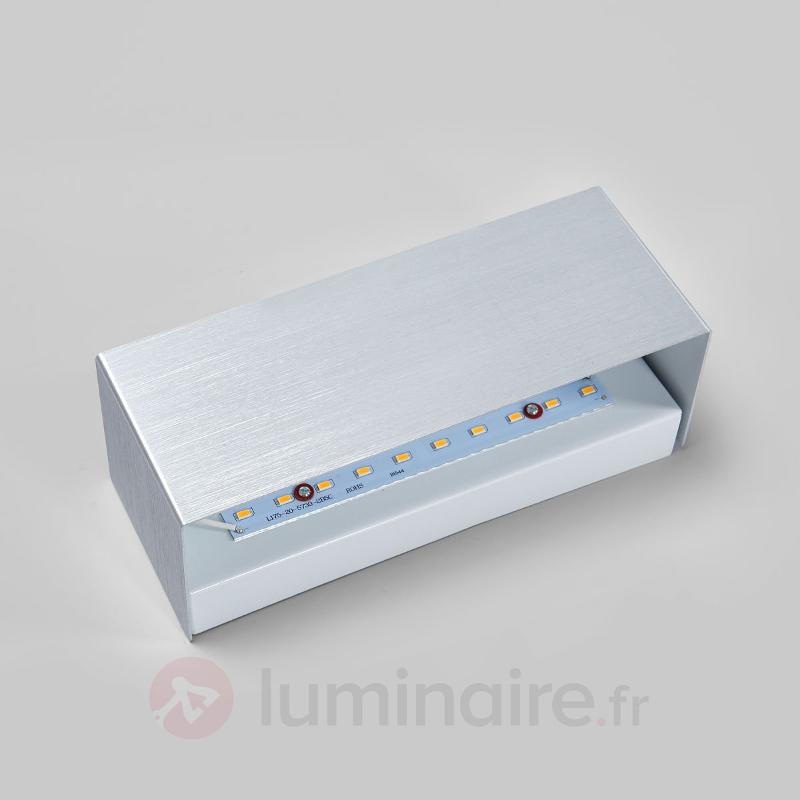 Applique LED rectangulaire Kimberly en aluminium - Appliques LED