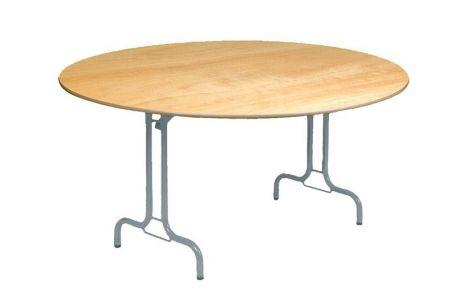 Table Pliante Ronde Rimbaud 150 Ou 180 Cm - Tables De Collectivités