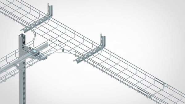 Basket cable trays supports & accessories - Supports and accessories for EASYCONNECT wire mesh cable trays