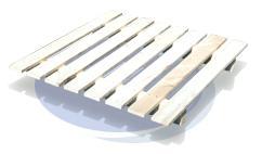 Palette 2 entrées, simple plancher - Palette P-2E-SPl (charge 500 à 700kg)