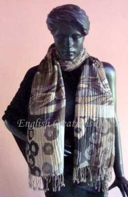 Silk Jacquard scarves with embroidery - Silk Jacquard scarves with embroidery