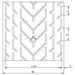 Chevron Conveyor Belts - Chevron Conveyor Belt Typ GB 1110