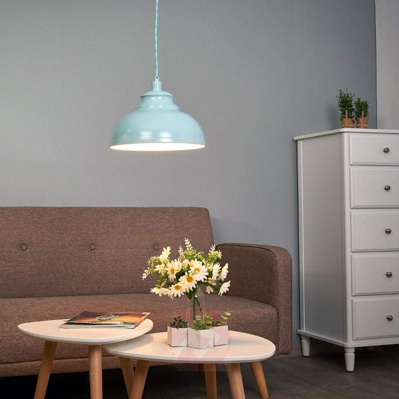 Isla - a hanging light in a soft blue colour - Pendant Lighting