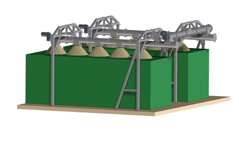 Custom spiral conveyors for recycling materials - Container loading