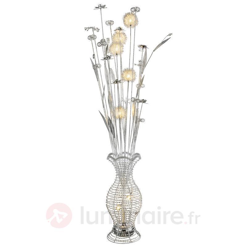 Lampadaire LED Laena, au design floréal - Lampadaires LED