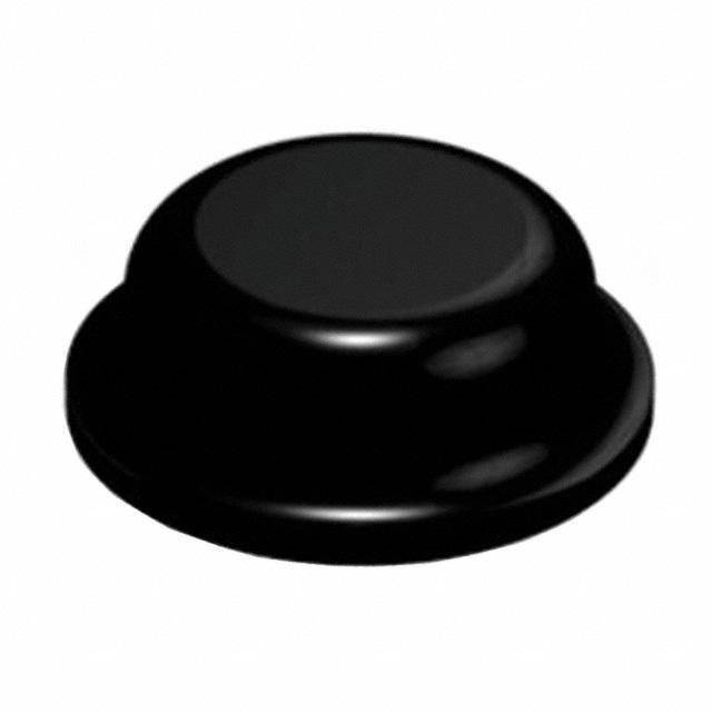 """BUMPER CYLIN 0.315"""" DIA BLACK - 3M SJ5076"""