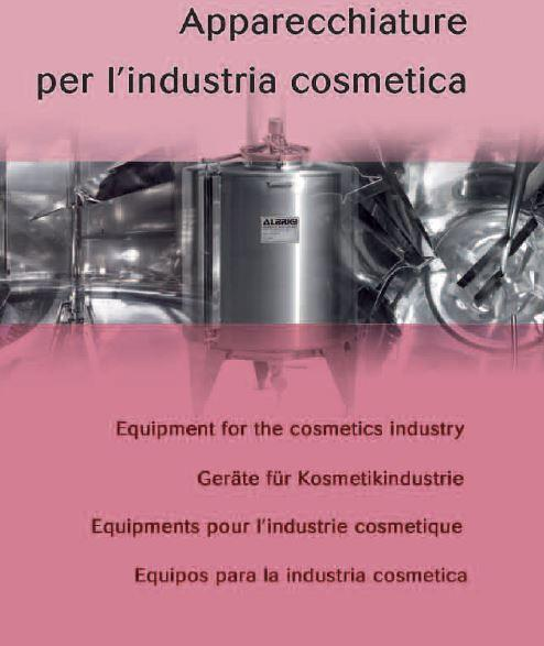 Equipments for cosmetics industry -